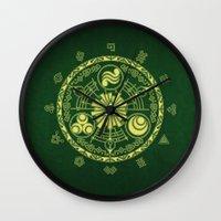 zelda Wall Clocks featuring Zelda Triforce  by DavinciArt