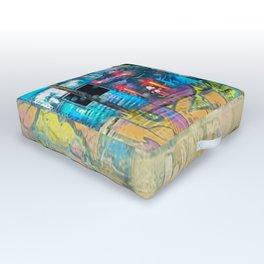 Warped Graffiti Outdoor Floor Cushion