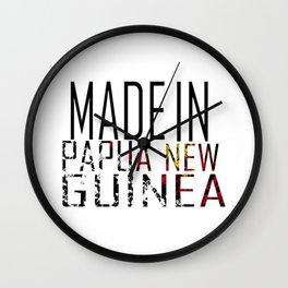 Made In Papua New Guinea Wall Clock