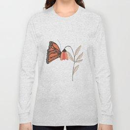 Monarch garden 001 Long Sleeve T-shirt