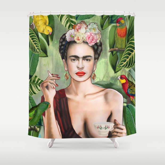 Frida con Amigos Shower Curtain