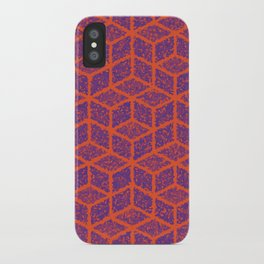 Kenna (Orange and Violet) iPhone Case