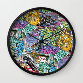 PAGER Collage Royal Stain Wall Clock