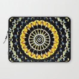Mandala - Black and Yellow Laptop Sleeve