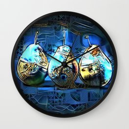 Three Pears Wall Clock