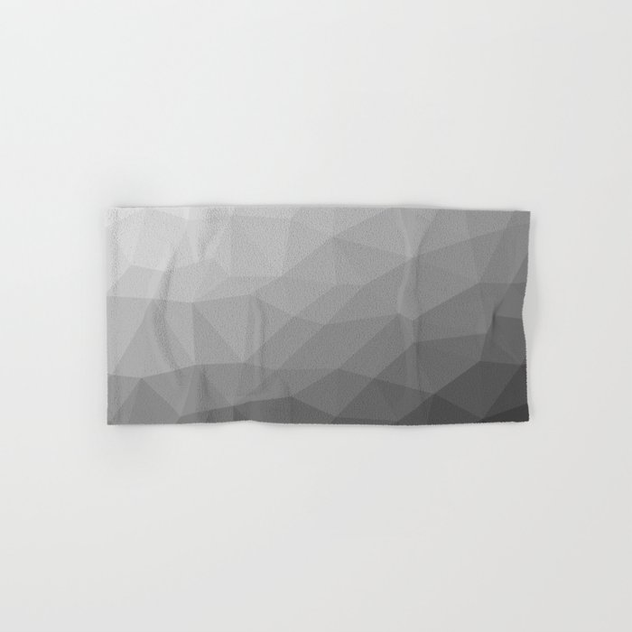 Grey Gradient Geometric Mesh Pattern Hand & Bath Towel