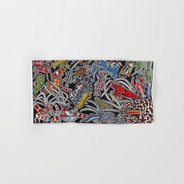 Prawns, gambas and shrimps for ocean lovers, marine biologists and scuba divers Hand & Bath Towel