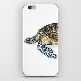 Hawksbill Turtle Watercolor Painting iPhone Skin
