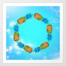 Ring of pineapples Art Print
