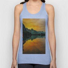 Sunrise on the Lake (Color) Unisex Tank Top