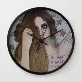 DO WHAT U WANT (WITH MY BODY) Wall Clock