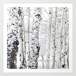White Tree 2 Art Print