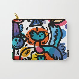 Doodle Graffiti Art Cool and Joyful Creatures by Emmanuel Signorino Carry-All Pouch