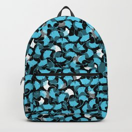 Crystal Ginko Leaf Pattern Backpack