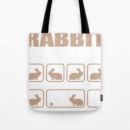 Stubborn Rabbit Tricks design Tote Bag