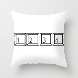 1234 Keyboard Buttons Throw Pillow