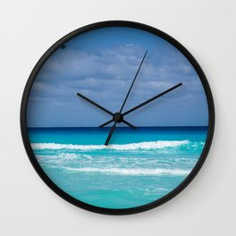 Scenic Turquoise Tropical Beach Wall Clock