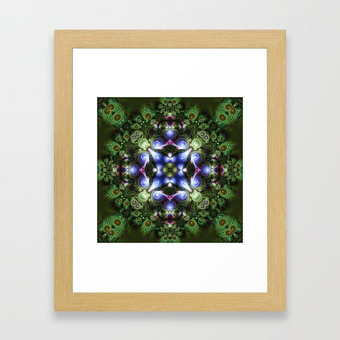 Fractal Forest Indigo Framed Art Print