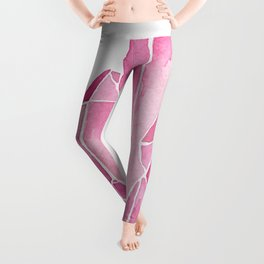 Rose Quartz Watercolor Leggings