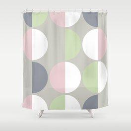 Mid Century Modern Moon & Sun pattern 1 Shower Curtain