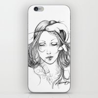 narwhal iPhone & iPod Skins featuring Narwhal by Mortimer Sparrow
