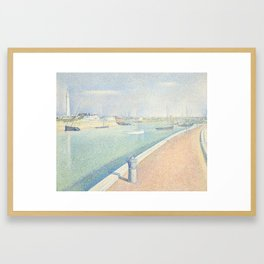The Channel of Gravelines, Petit Fort Philippe Framed Art Print