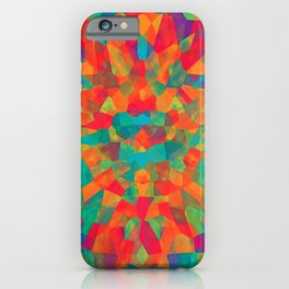 Teal Multi Colored Abstract Shapes iPhone Case