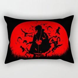 Red Moon Itachi Rectangular Pillow