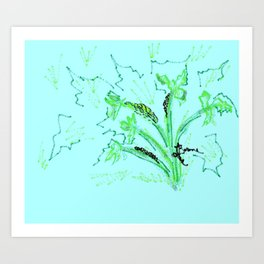 Baby Bug Crawling on Parsley Art Print