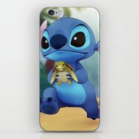 lilo and stitch iPhone & iPod Skins featuring Stitch by beastace