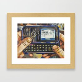 Complacency, Cellphone Framed Art Print