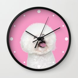 Laughing Puppy Wall Clock