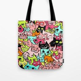 Cat Smoosh Tote Bag