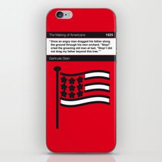 No033 MY The Making of Americans Book Icon poster iPhone & iPod Skin