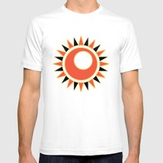 Hollow star  White SMALL Mens Fitted Tee