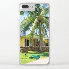 66. Hotel under palmtree, Cuba Clear iPhone Case