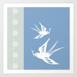 Your indies swallows Art Print