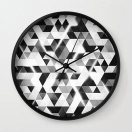 amped (monochrome series) Wall Clock