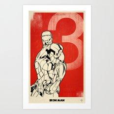 Iron Man 3 Alternative Poster Art Print