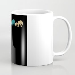 Retro Mama Baby Elephants Elephant Family Coffee Mug