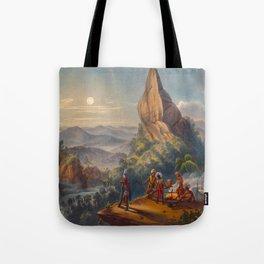 Ataraipu Or The Devil's Rock Illustrations Of Guyana South America Natural Scenes Hand Drawn Tote Bag