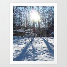 Trunk, Sun, Love. Art Print
