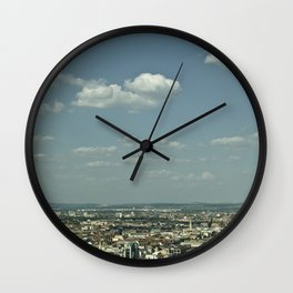 Budapest from above Wall Clock