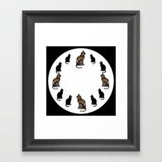 CAT TIME Framed Art Print