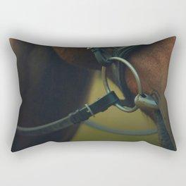 Behind the Bit Rectangular Pillow