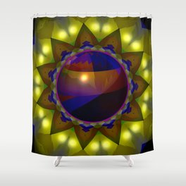 Bowl in the hole ... Shower Curtain