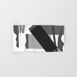 Matisse Inspired Black and White Collage Hand & Bath Towel