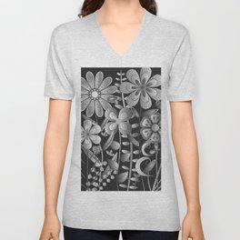 Petty Flowers Pattern 4 Unisex V-Neck