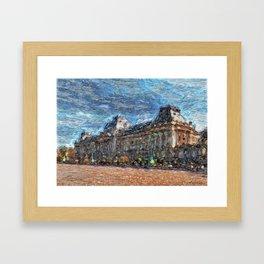 Palais Royal - Bruxelles Framed Art Print