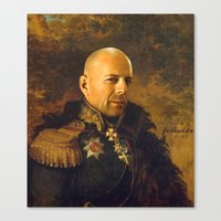 replaceface Canvas Prints featuring Bruce Willis - replaceface by replaceface